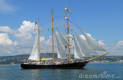 Bulgarian tall ship Kaliakra Editorial Photography