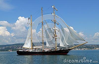 Bulgarian tall ship Kaliakra Editorial Photography