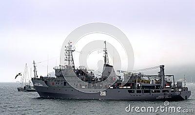 Bulgarian warship Editorial Photography