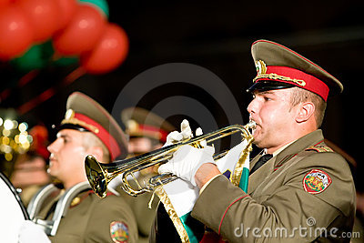 Bulgary military band Editorial Image
