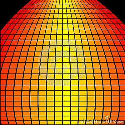 Bulged squares background