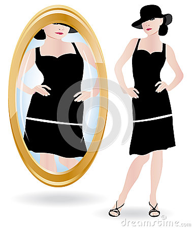 Bulimia or anorexia illustration.