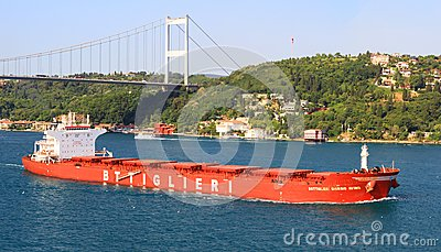 Bulk carrier ship Editorial Stock Photo