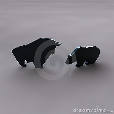 Free Bull And Bear Royalty Free Stock Photo - 15390145