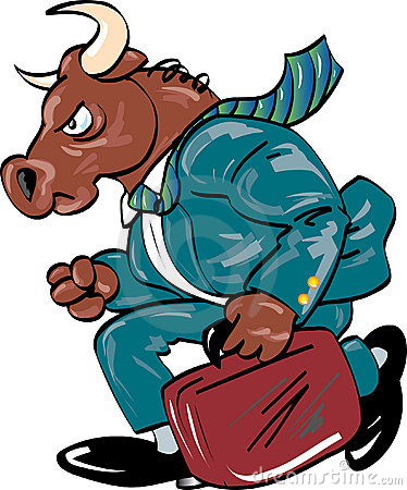 Bull in Business Suit