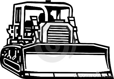 Bull Dozer Illustration