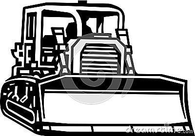 Bull Dozer Illustration