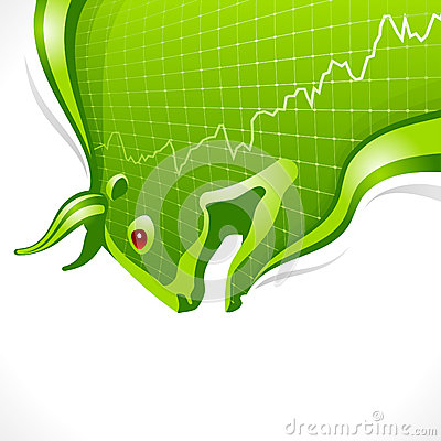 Bull frame. Business and finance symbol