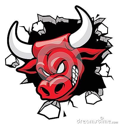 Free Bull Heading A Wall Royalty Free Stock Photo - 33227625