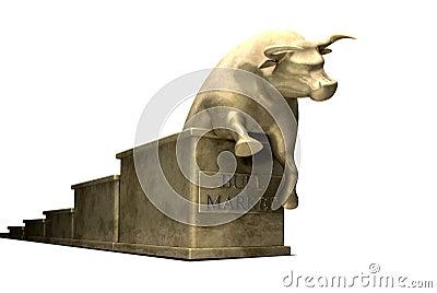 Bull Market Trend Cast In Gold