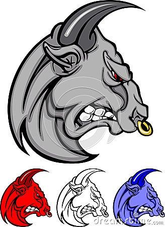 Bull Mascot Vector Logo