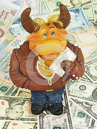 Bull moneybox