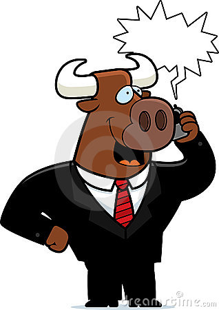 Free Bull Phone Stock Images - 14633174
