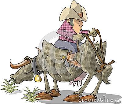 Bull Rider Stock Illustrations – 260 Bull Rider Stock ...