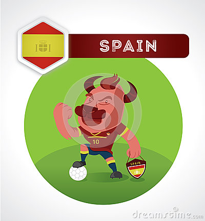 bull-soccer-character-suit-spain-nationa
