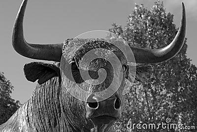 Bull statue in Spain