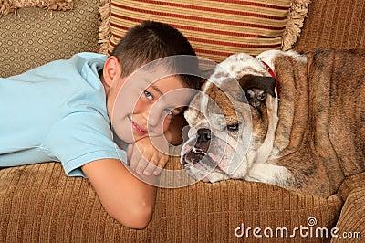 Bulldog and Boy