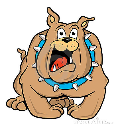 Bulldog cartoon illustration