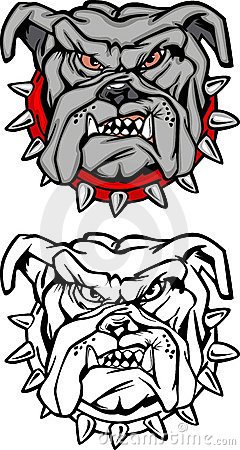 Bulldog Cartoon Mascot Vector Logo