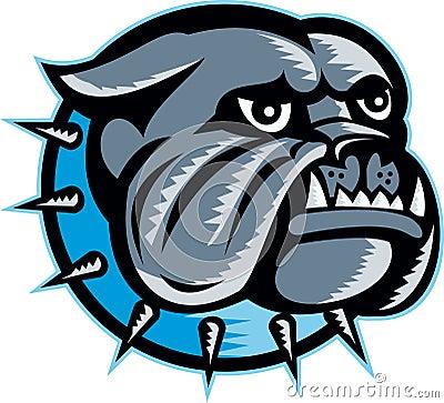 Bulldog Dog Head Mascot