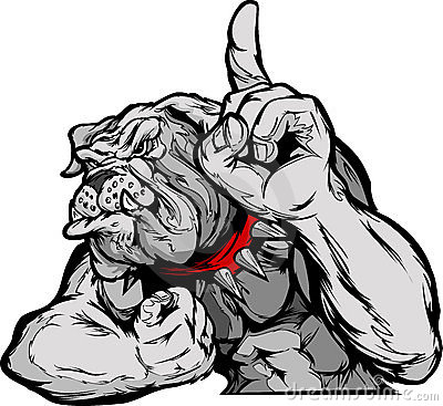 Bulldog Mascot Body Cartoon