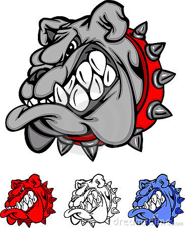 Bulldog Team Mascot Vector Logo
