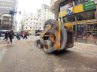 Bulldozer Editorial Image