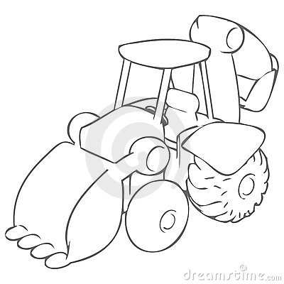 Bulldozer Drawing
