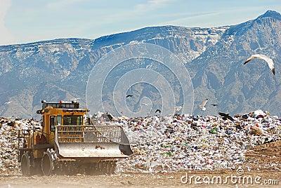 Bulldozer at the dump