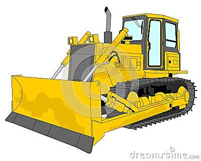 Bulldozer Illustration Royalty Free Stock Image - Image ...