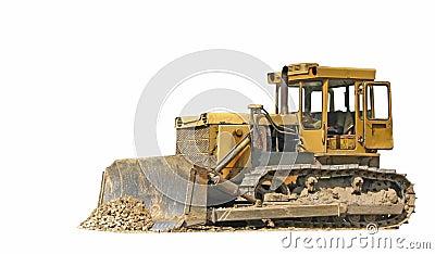 Bulldozer isolated