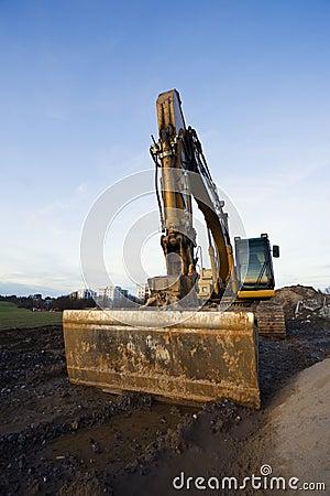 Bulldozer at rest