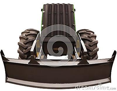 Bulldozer wide angle photo
