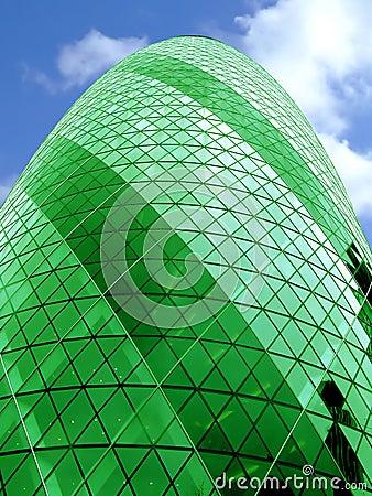 Bullet building alone green