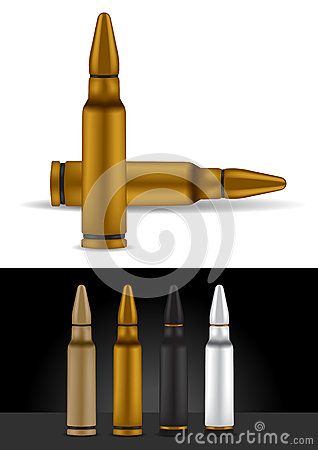 Bullet in different colors - vector