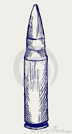 Bullet. Doodle style