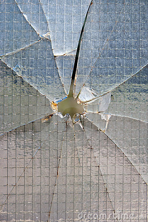 Bullet hole glass
