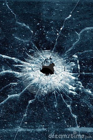 Free Bullet Hole In Window Royalty Free Stock Photo - 2905135