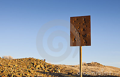 Bullet Hole Sign