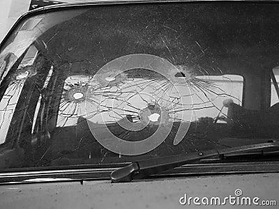 Bullet holes BW