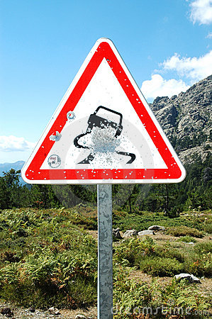 Bullet holes on road sign, Corsica