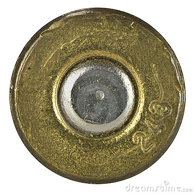 Free Bullet Shell Casing Bottom Stock Photo - 22777100