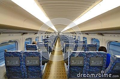 Bullet Train Interior Editorial Image