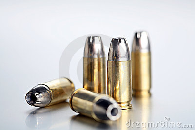 Bullets 9mm closeup