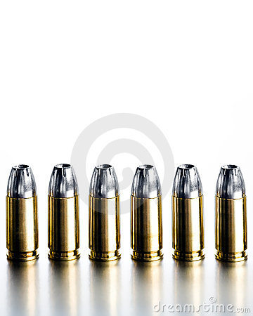 Bullets 9mm high contrast