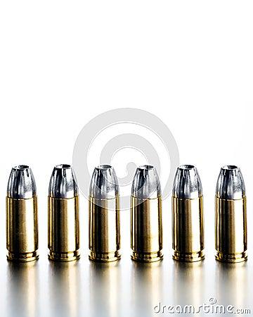 Bullets 9mm high contrast