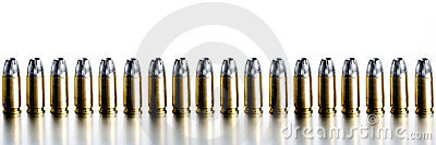 Bullets 9mm high contrast banner