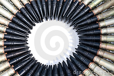 The bullets combined on a circle