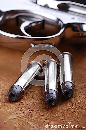 Bullets with gun