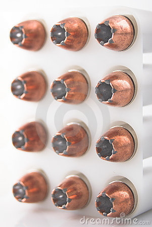 Bullets in holder